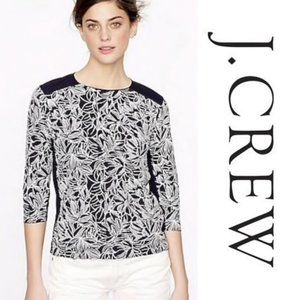 J. CREW Embroidered Wildflower Top NWT